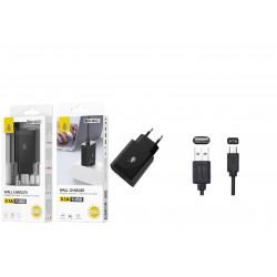 Kit de Carregador/Adaptador USB Quick Charger 3.1A 18W + Cabo MicroUSB
