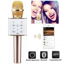 Microfone c/ Coluna Bluetooth Karaoke Wireless