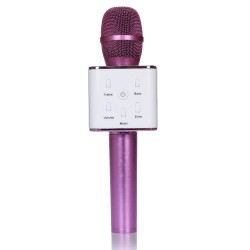Microfone c/ Coluna Bluetooth Karaoke Wireless - ROXO
