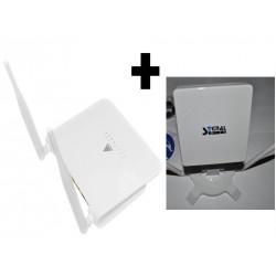 PACK - Antena Wireless / Wifi de longo alcance e Repetidor de sinal