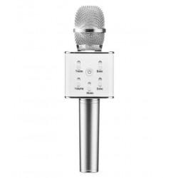 Microfone c/ Coluna Bluetooth Karaoke Wireless - ROXO