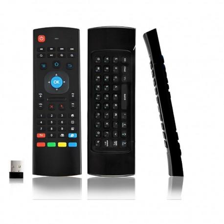 Comando Air Mouse c/ teclado QWERTY - 2.4GHz Wireless