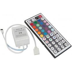 Comando p/ Fita LED RGB 12V e Dimmer por Controle Remoto IR infravermelhos - 44 Botões