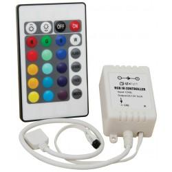 Comando p/ Fita LED RGB 12V e Dimmer por Controle Remoto IR infravermelhos - 24 Botões