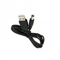 Cabo de Alimentação USB com Ficha 5.5mm x 2.1mm