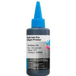 Recarga de tinta para tinteiros de impressoras Azul 100ml