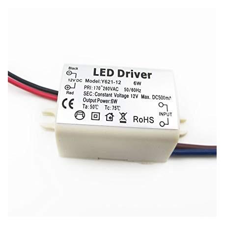 Fonte de alimentação de corrente constante (LED driver) 6W - 12V 500mA