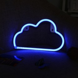 Nuven decorativa Led Neon Azul (pilhas ou elétrico)