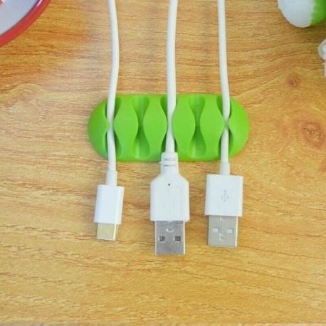 Organizador de cabos em silicone (para 5 cabos)