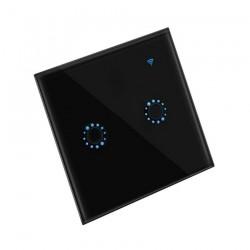 Interruptor Digital - Duplo - Controlo à distância Preto