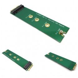 Conversor/ adaptador com socket B + M M.2 NGFF SSD para discos 18 pinos (16+2)